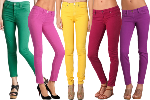 celebrate your festival with colored jeans LMIKLYL