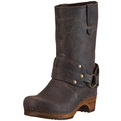 clog boots sanita wood mohawk leather boots (eu 36 (us 5.5 - 6), brown MVKMHWU