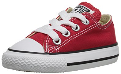 Converse for kids converse unisex chuck taylor all-stars ox skate/lifestyle, red, 2 m LAQESCR