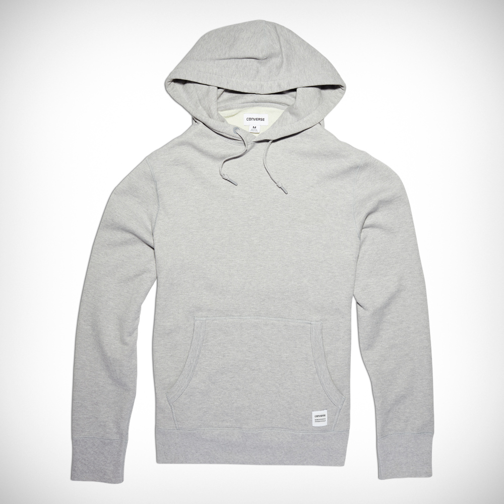 Converse Hoodie menu0027s essentials pullover hoodie light grey heather light grey heather AUODVZG