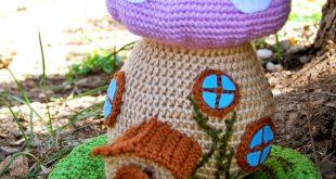 cool crochet patterns spring fairy house - free crochet pattern FRWCIOY