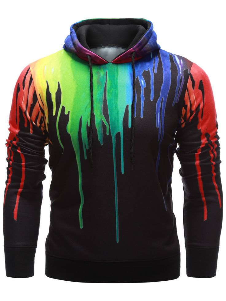 cool hoodies long sleeve paint dripping hoodie PPXGBDZ
