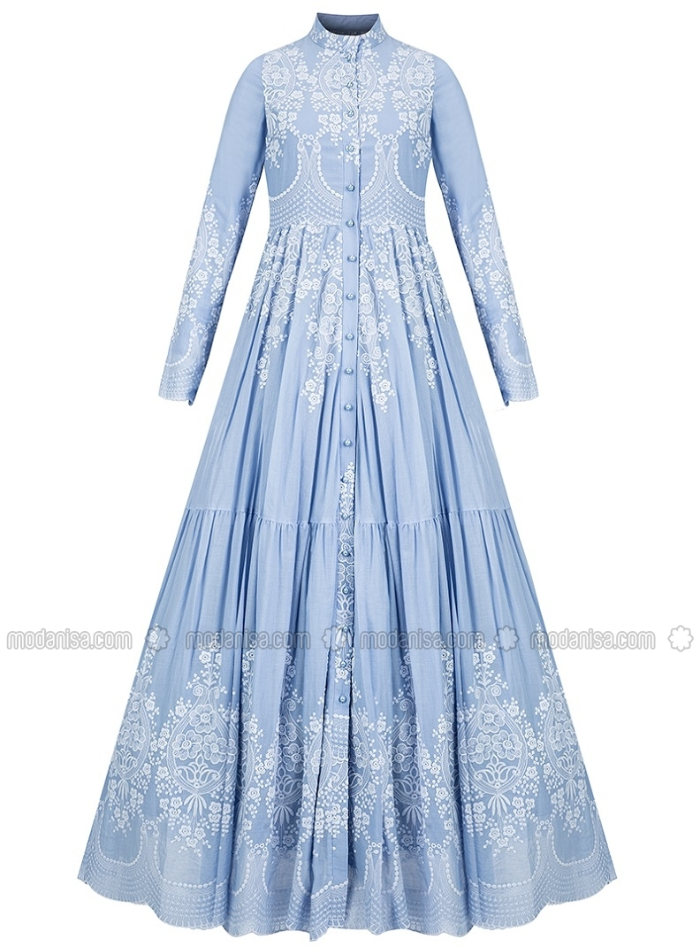cotton dresses cotton dress - blue - muslima wear PNRTWHJ