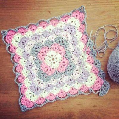 crochet baby blanket shell stitch baby blanket - free pattern ~ yarn crochet GTNKUJO