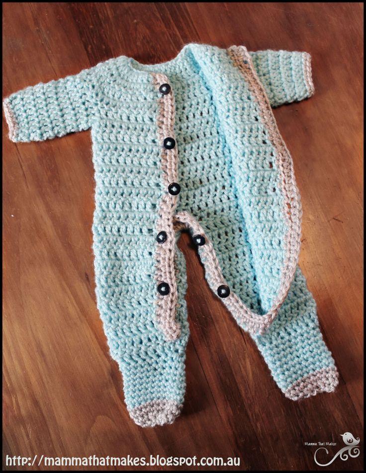 crochet baby clothes mamma that makes: ezra romper - free crochet pattern ZOHCYYA