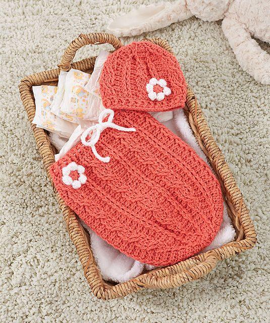 crochet baby cocoon free crochet pattern: just peachie cocoon set FSWAXXR