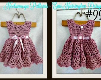 crochet baby dress pattern, crochet baby clothes, crochet pattern baby, crochet  dress pattern WLUFOWB