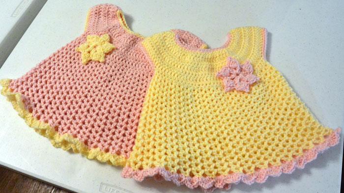crochet baby dress pattern little sweetie dresses, crocheted by jeanne QEDPGMA