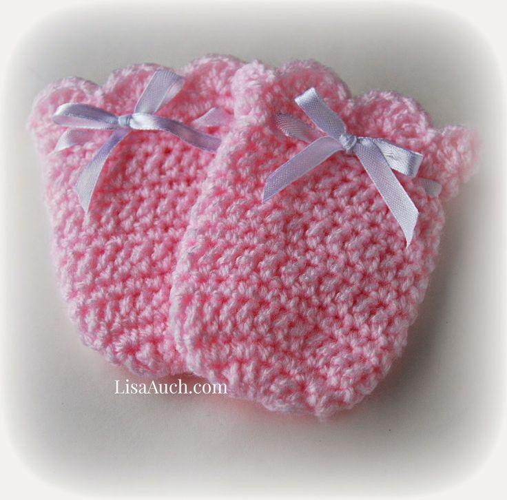 crochet baby mittens RYYBWST