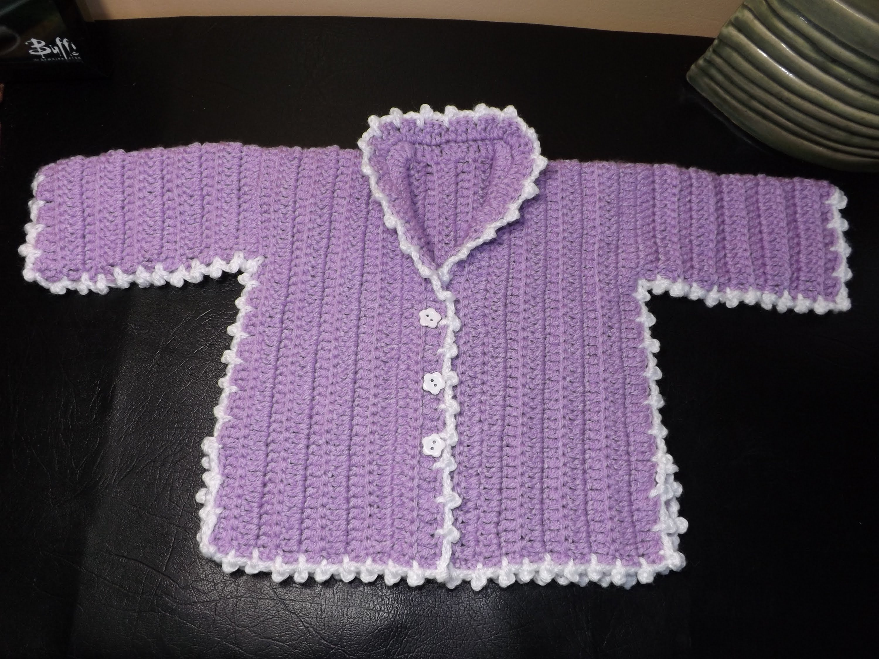 crochet baby sweater how to crochet a baby sweater lilac - with ruby stedman - youtube BBQYJZE
