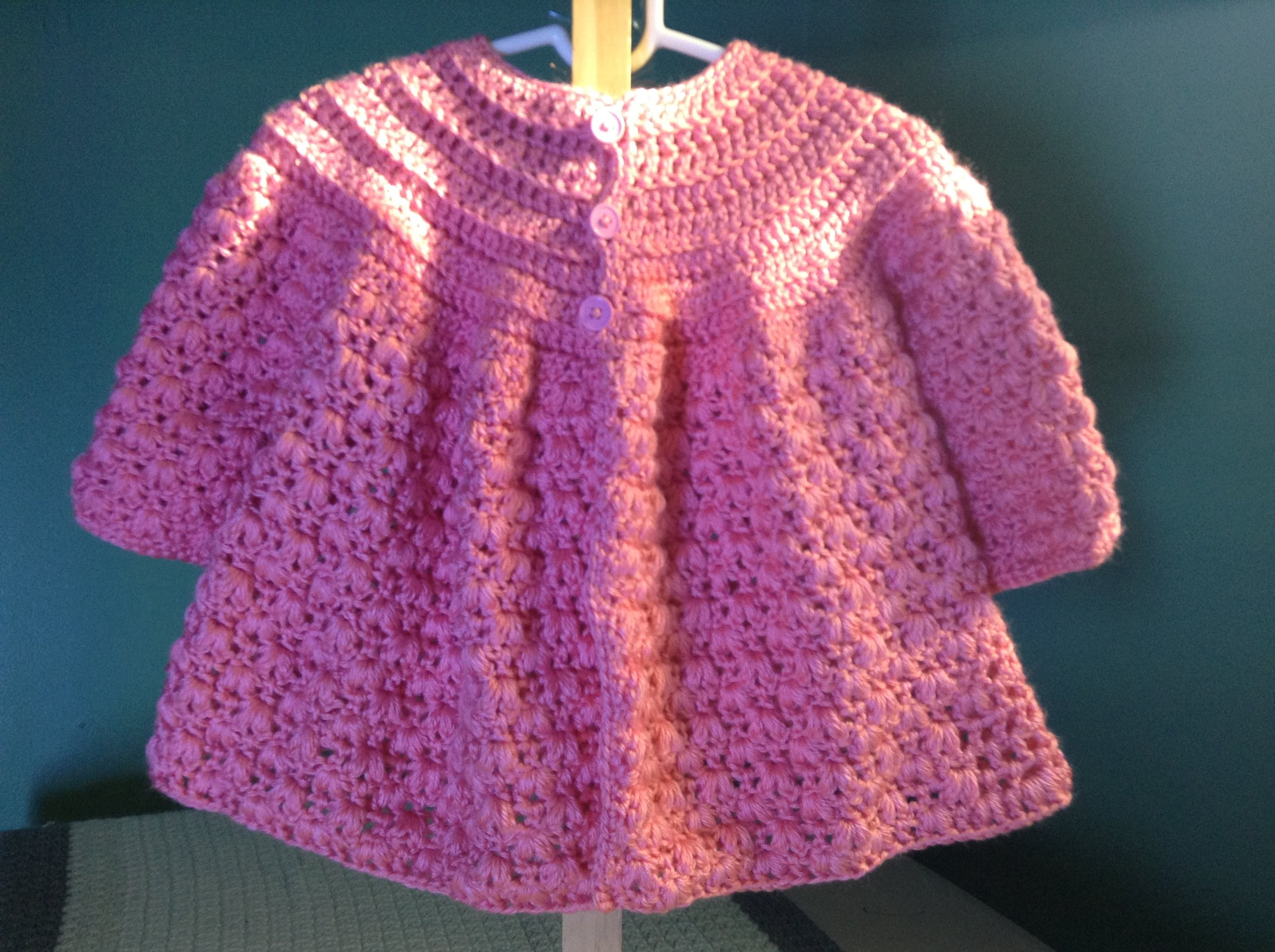 crochet baby sweater how to crochet a baby sweater - youtube TYJDGOP