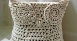 crochet basket pattern crochet owl basket pattern CJSIMQM