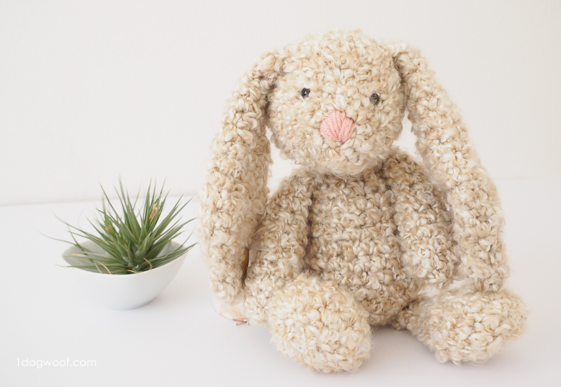 crochet bunny pattern floppy-eared stuffed bunny crochet pattern MSWOCKQ