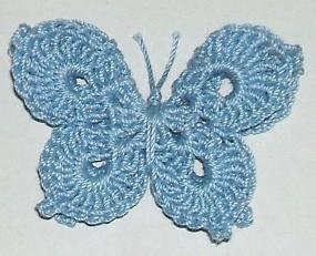 crochet butterfly pattern 3-d butterfly OOWLCRQ