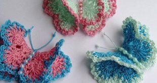 crochet butterfly pattern crochet butterflies free   these thread crocheted beautiful spring  butterflies are about 1 . RNVTCYW