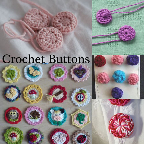 crochet buttons free #crochet patterns to make your own buttons! from mooglyblog.com LBJINEY