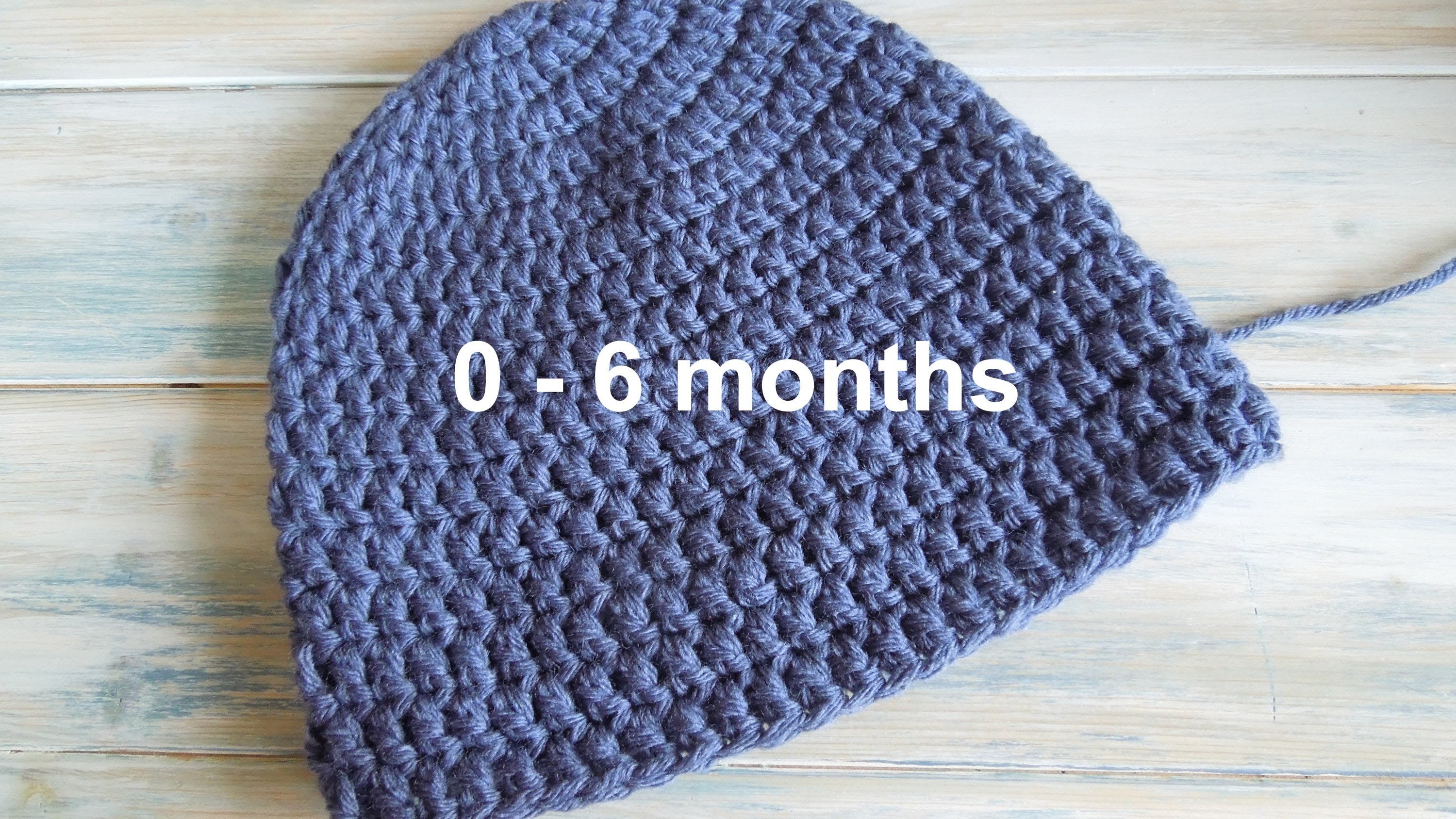 Crochet cap for babies (crochet) how to - crochet a simple baby beanie for 0-6 months - youtube DKRYPOO
