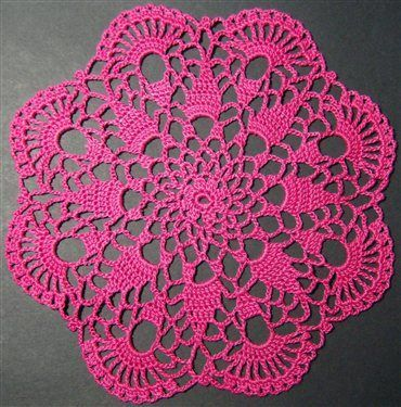 crochet doilies easy doily patterns for beginners crochet petite spiral pineapple doily  pattern UACYYXN