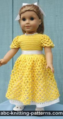 crochet doll clothes american girl doll princess dress IWNAPPH