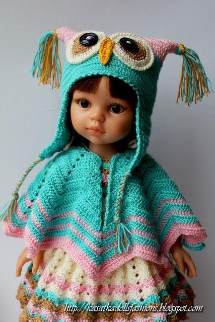 crochet doll clothes kasatkadollsfashions: как связать шапку-совушку для кукол паола рейна  (куклы-подружки 32. crochet doll clothescrochet ... ABPJNHO