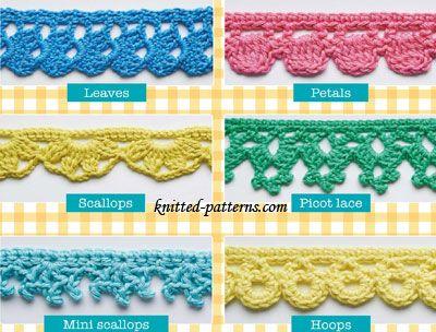 crochet edging crochet edgings and trims free patterns | knitted-patterns.com GIJFELI
