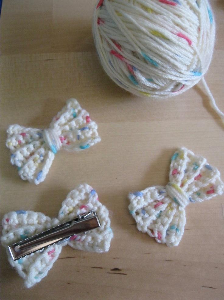 crochet hair accessories crocheted bow hair clip. crochet hair clips for little girls, this little  girl hair UGICBNX
