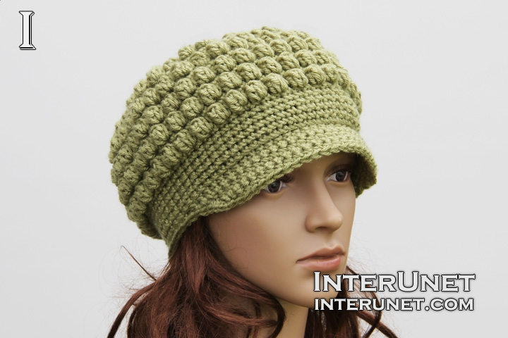 crochet hat hat-cluster-stitch HUAOGVV