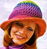 crochet hat patterns a rainbow hat CHWYGJD