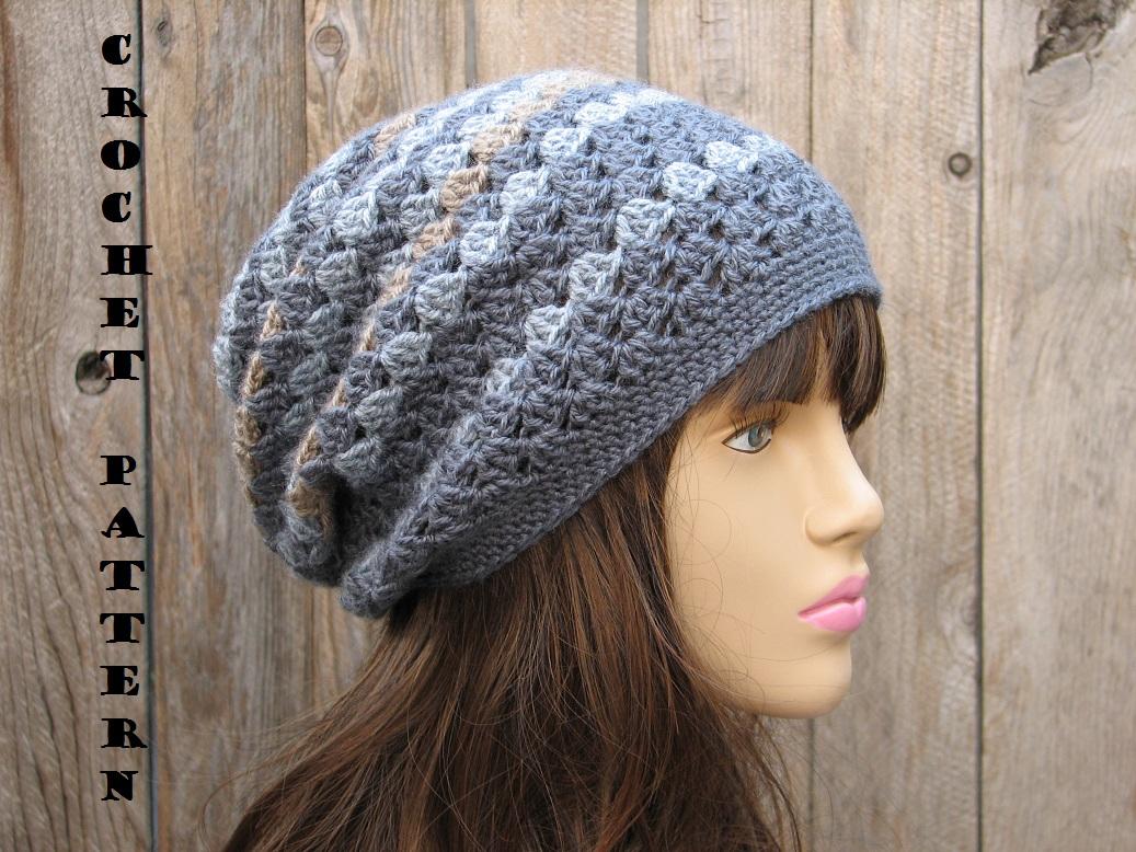 crochet hat patterns crochet hat - slouchy hat, crochet pattern pdf,easy, great for beginners,  pattern no. 27 DBNFKDX