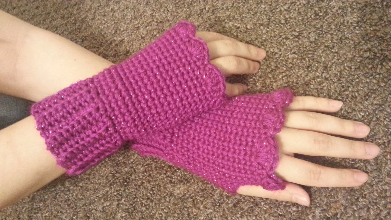 crochet how to #crochet fingerless gloves wristers #tutorial #155 learn  crochet - youtube ZHFTJEO