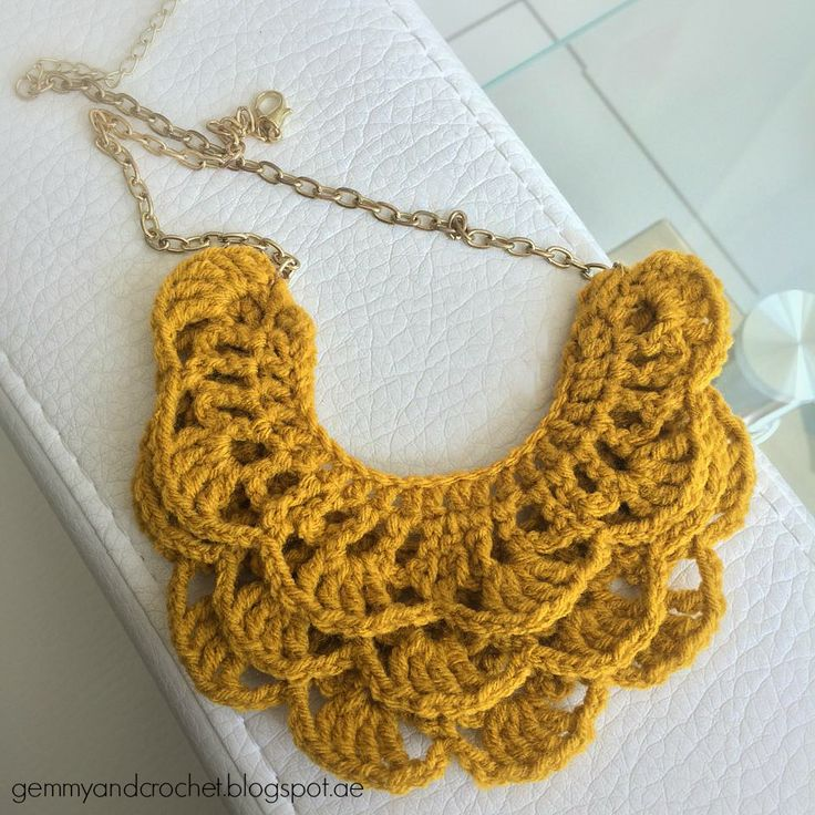 crochet jewelry patterns all about crochet: free pattern: crochet bib necklace  http://gemmyandcrochet. EMFHPWZ