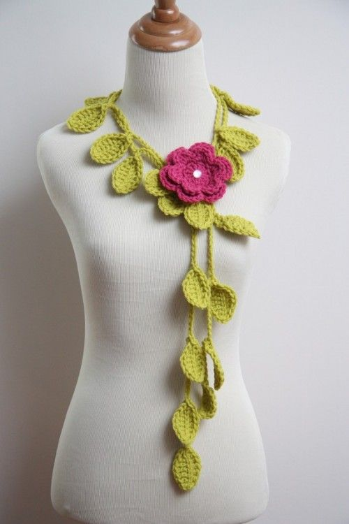 crochet jewelry patterns free crochet jewelry pattern | ... leaf lariat was featured in my roundup of ABBQTUM