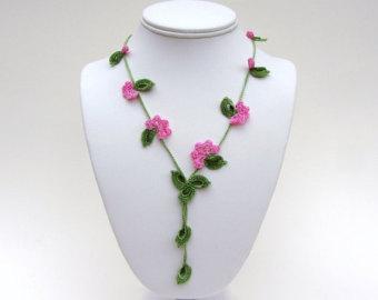 crochet necklace pdf pattern vine necklace photo tutorial oya necklace  tutorial irish crochet jewelry LGQIFFJ