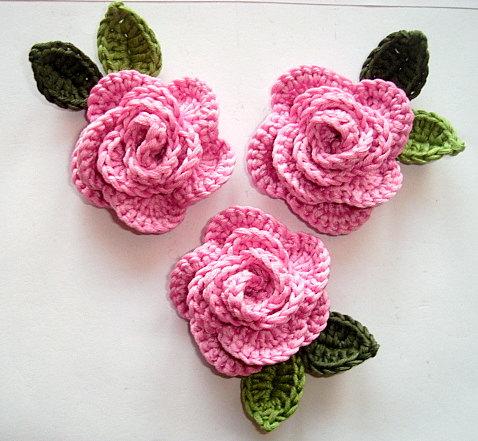 crochet rose crocheted roses OCBZLCD