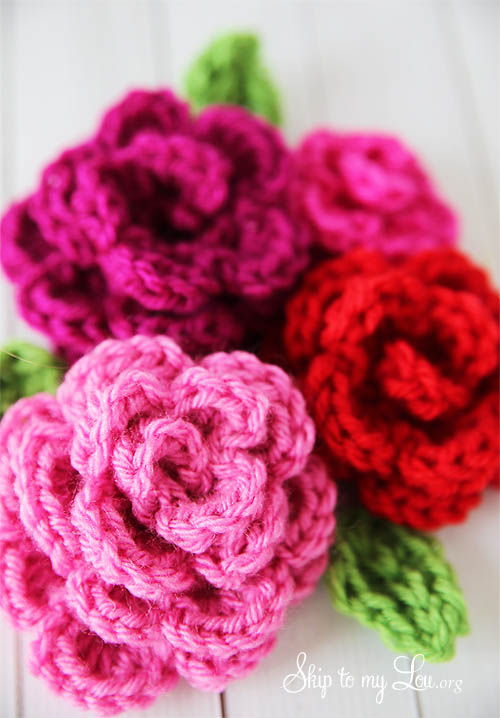 crochet rose pattern crochet flower diy RWYWVKP