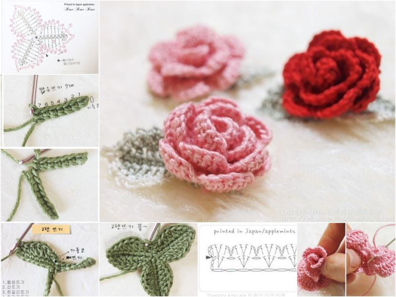 crochet rose pattern diy crochet rose with free pattern DNNULQP