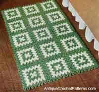 crochet rug patterns rectangular rug pattern HCZECWK