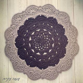 crochet rug patterns snorka crochet doily rug pattern for tshirt yarn / trapillo / zpagetti  yarn, by CHIYGTS