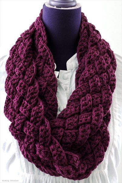 crochet scarf interweave: rapunzel scarf - no pattern; uses foundation double crochet XNHIMOO