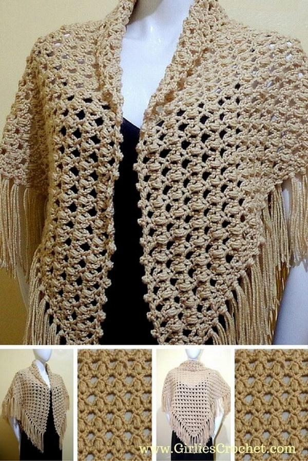 crochet shawl prayer PXQTAMW