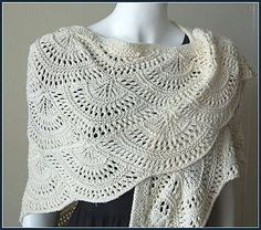 crochet shawl ravelry: panda silk dk fan shawl pattern by gail tanquary- -free knitting  pattern MSEDBHI