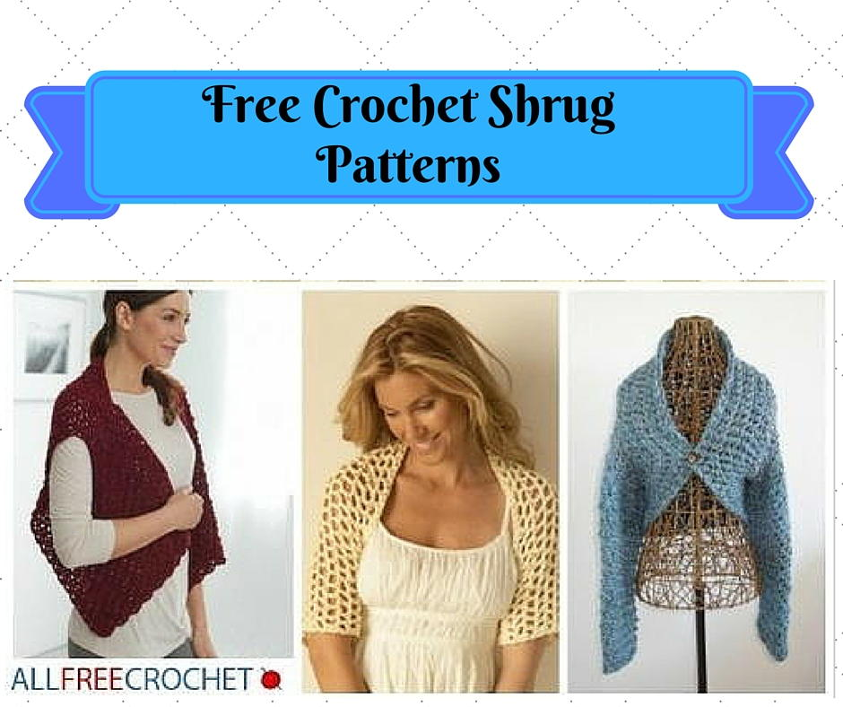 crochet shrug pattern 31 free crochet shrug patterns | allfreecrochet.com JCHITWH