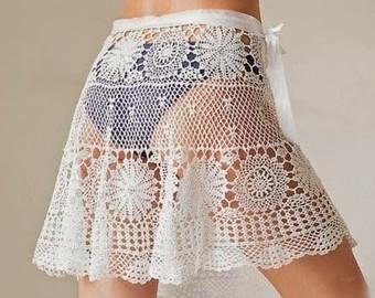 crochet skirt pattern,detailed tutorial,crochet beach skirt,crochet mini  skirt,crochet TNUNWSM