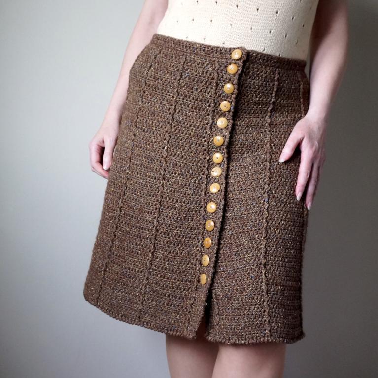 The guideline of crochet skirt pattern