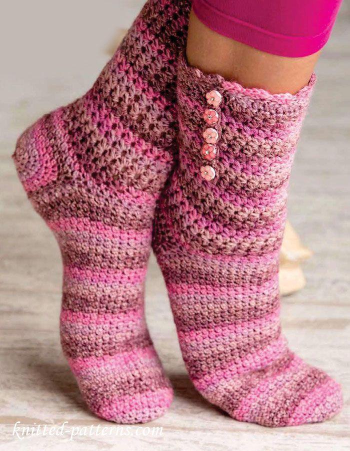 crochet socks pattern free ZOKHXTM