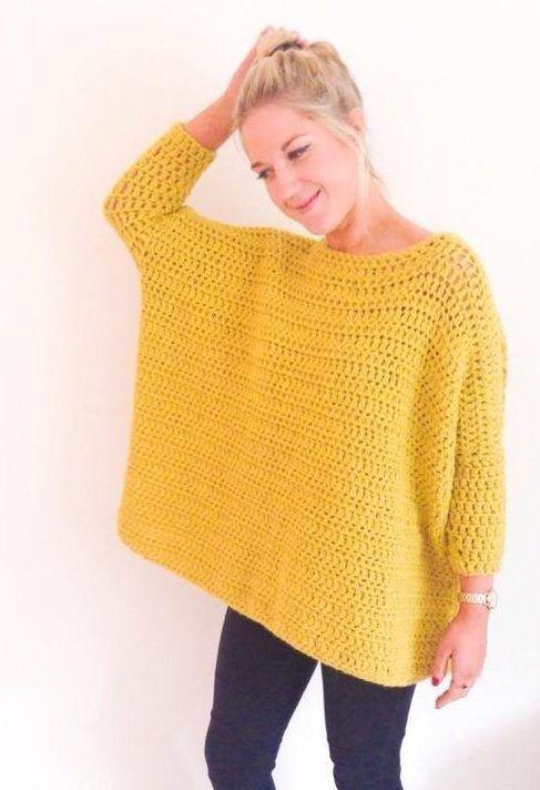 crochet sweater patterns crochet: oversized box jumper by frank u0026 olive on the lovecrochet blog GDPUQVB