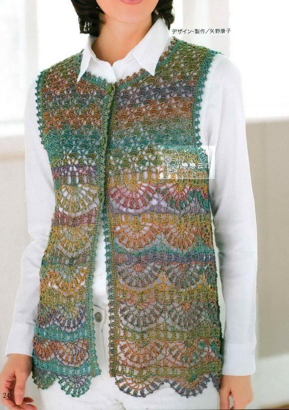crochet sweaters: crochet vest pattern - classy IXZMRLX
