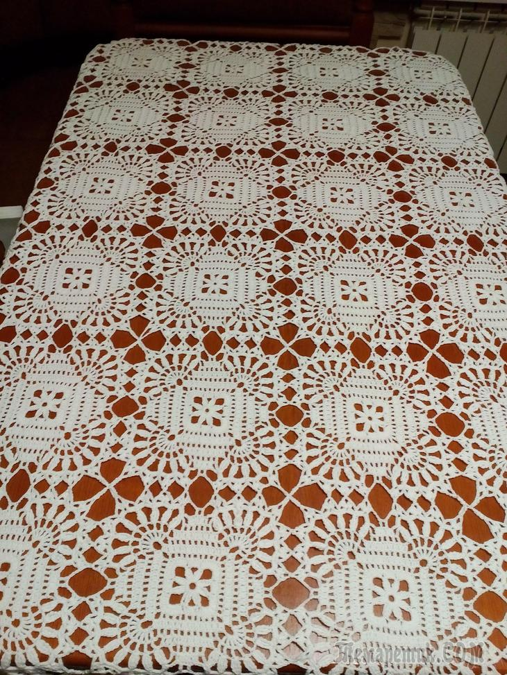 crochet tablecloth pattern square tablecloth motif lace free crochet pattern LTSFUFJ