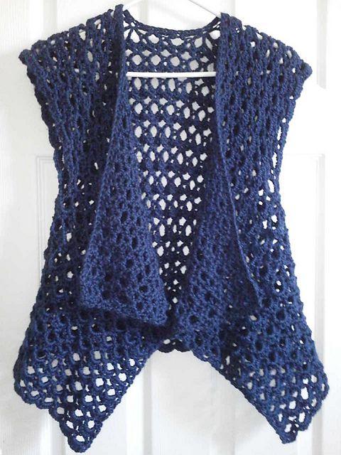 crochet vest ravelry: mesh vest pattern by doris chan for lion brand yarn (crochet - free IZMBSVZ