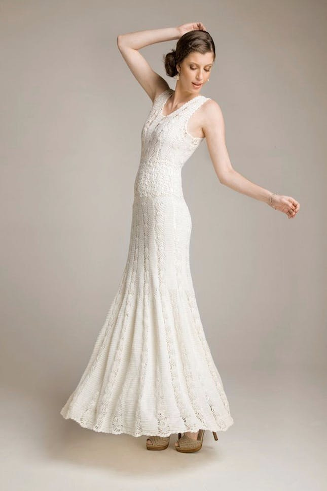 crochet wedding dress 15 wedding dresses you wonu0027t believe are crocheted | brit + co MGYVIBE